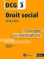 Droit social - DCG 3 - Corrigés de Claudia Martin-Laviolette