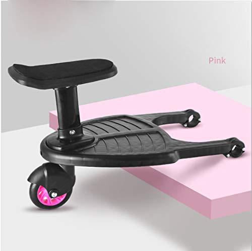 LUGUO Cochecito con ruedas con asiento, cochecito de paseo con crestas, cochecito de bebé seguro para niños de 3 a más de 25 kg, tabla de escalones de seguridad para niños, gran regalo para tu bebé