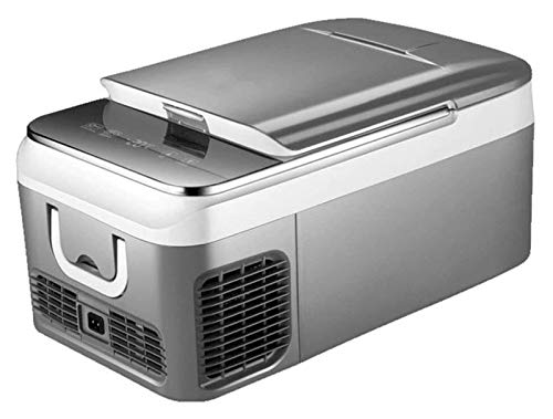 Refrigerador de coches LED Mini refrigerador 12V / 240V Entrada dual Operación de silencio Portátil Compacto de calefacción de alimentos para el hogar ( Color : Gray , Size : 18L(580x320x280mm) )