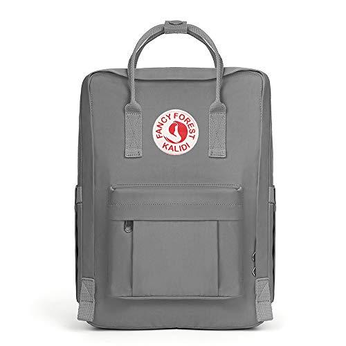 KALIDI Rucksack/Daypack Rucksack Mädchen Jungen & Kinder Damen Herren Schulrucksack mit laptopfach für 15 Zoll Notebook (Grau)