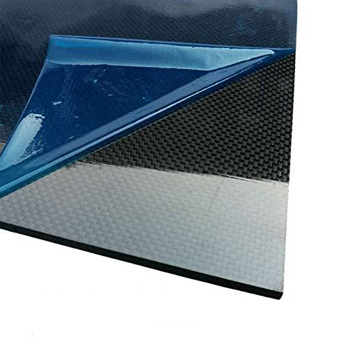 AFuex 3K Carbonfaserplatten 300x400mm, Dicke (2-5mm) Leinwandbindung, glänzende Oberfläche,300x400mm,3mm