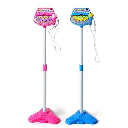 EcoGo Karaoke Infantil Microfono de Pie Niños (Azul)