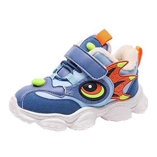 Zapatos de bebé de Dibujos Animados otoño e Invierno niños y niñas Cuero cómodo más Terciopelo Grueso Calzado Deportivo de algodón Zapatos para bebés y niños pequeños