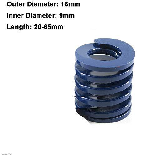 NO LOGO L-Yune, 1Pcs blaues Licht Last Spiral Stamping Compression Das Federaußendurchmesser 18mm Innendurchmesser 9 mm Länge 20-65mm (Größe : 18 x 9 x 20mm)