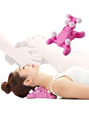 Cervical Spine Alignment Chiropractic Pillow,Neck and Head Pain Relief Back Massage Traction Device Support Relaxer, Tension Headache Relief, 6 Trigger Point Therapy, Improved Mobility