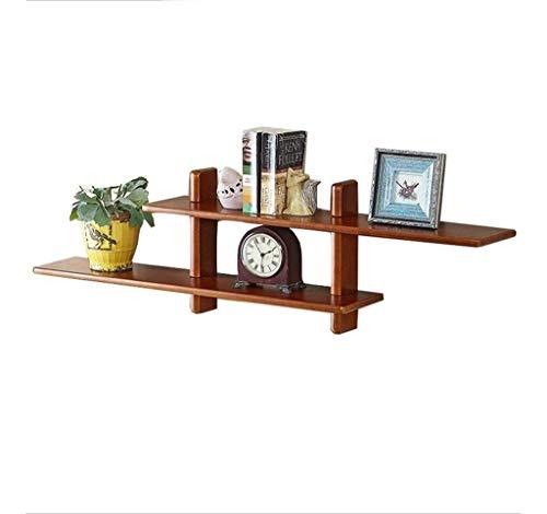 Yankuoo 43'' Classic Houten Plank Wandmontage Opbergplank Organizer Hoekplank voor Badkamer, Slaapkamer, Woonkamer, Keuken