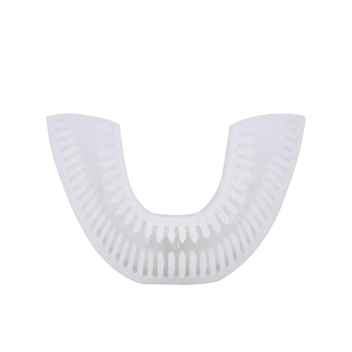 自動音波電動歯ブラシ充電式USB 4モードUタイプオーラルケア歯の歯ホワイトニングブルーコールドライト、F