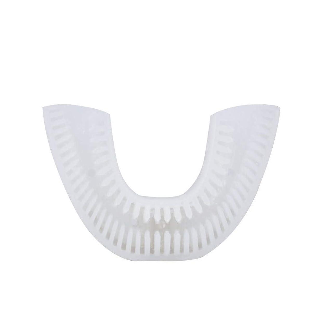 意欲半ばテロ自動音波電動歯ブラシ充電式USB 4モードUタイプオーラルケア歯の歯ホワイトニングブルーコールドライト、F