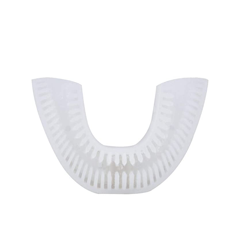 スタジオ窓フルーツ野菜自動音波電動歯ブラシ充電式USB 4モードUタイプオーラルケア歯の歯ホワイトニングブルーコールドライト、F