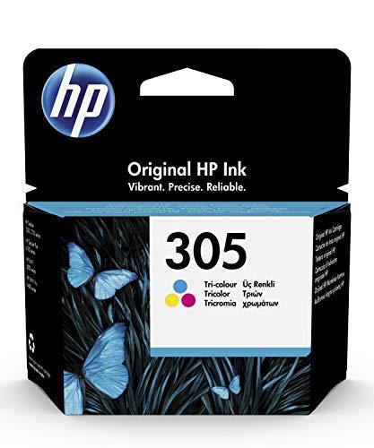 HP 305 3YM60AE, Tricolor, Cartucho de Tinta Original, compatible con impresoras de inyección de Tinta HP DeskJet 2700, 2730, 4100, 4134, Envy Serie 6020, 6030, 6420, 6430