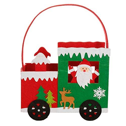 Dibor - Bolsa de Tela de Fieltro para Caramelos de Navidad, Fieltro, Santa Claus, H26 x W19.5 x D10.5cm