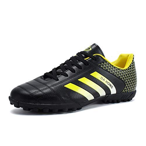 Herr fotbollsskor professionella friidrott sneakers med klack halkfria fotbollsskor inomhus utomhus grästränare, - Svart - 40 EU
