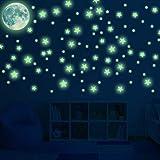 Leuchtsticker Wandaufkleber selbstklebend, Leuchtsterne Mond und Sterne Fluoreszierend Sternenhimmel für Baby, Kinder oder Schlafzimmer Dekorative(167pcs)