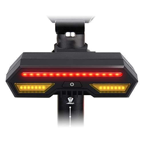 Prenine Fahrrad-Rücklichter, drahtlose Fernsteuerungsblinker, intelligente wasserdichte Bergwarnlichter, USB-Lade-LED