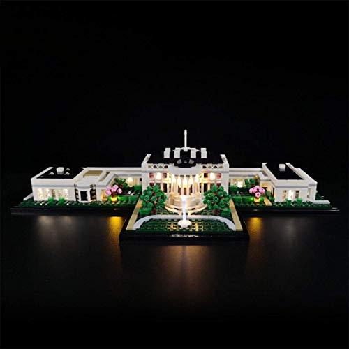 Axjzh DIY Beleuchtungsset LED-Kabel Kit für Lego White House 21054, Lego Modell Nicht enthalten