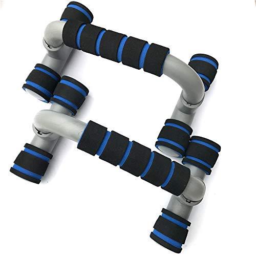 Push up bars fitnessapparatuur, met verwisselbare beugel handvat non-slip saldoontwerp, Trainen borstspieren en armspieren Zeer geschikt voor zowel mannen als vrouwen Strength Workouts,Gray plus blue