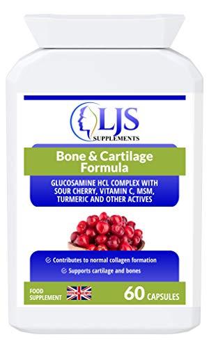 LJS Supplements Bone & Cartilage Formula - Healthy Joints - Stronger Bones - Skeletal Nourishment - Athletes Injuries - Made in UK.