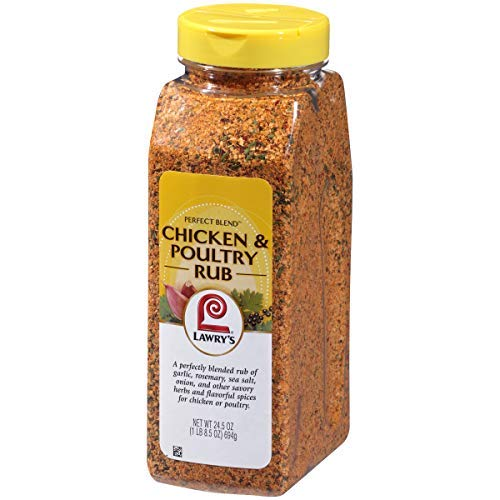 Lawrys Perfect Blend Chicken and Poultry Rub Seasoning, 24.5 Ounce -- 6 per case.