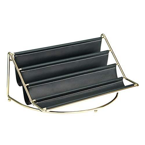 Matedepreso Organizador de escritorio de almacenamiento de cosméticos Multi capa PU cuero dormitorio diario (verde, tamaño: L)