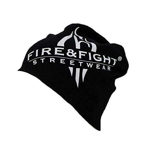 FIRE & FIGHT Streetwear Wintermütze Jersey-Beanie Hat Black