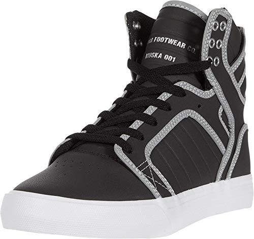 Supra Herren Skytop Hohe Sneaker, Schwarz (Black/Reflect-White 033), 44 EU