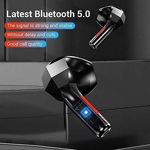 Auriculares Inalámbricos Verdaderos Bluetooth 5.1 con Estuche de Carga Auriculares Inalámbricos Cómodos y Ligeros (2,9 g) Auriculares TWS con Graves Profundos para Deporte y Correr miniatura