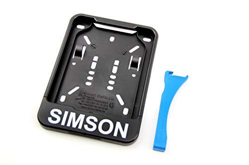 Wechsel Kennzeichenhalter mit Simson-Schriftzug für Moped Versicherungskennzeichen 135x110