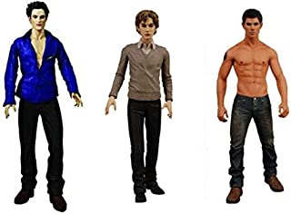 Neca Twilight New Moon, Edward Cullen, Jacob & Jasper Action Figure Bundle