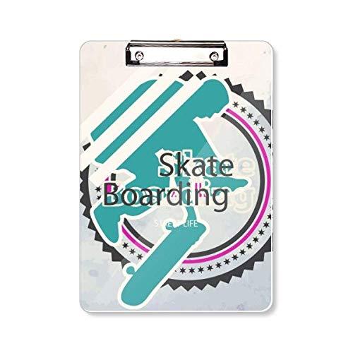 Sport Snowboarden Atleten Illustratie Clipboard Folder Schrijven Pad Achterplaat A4
