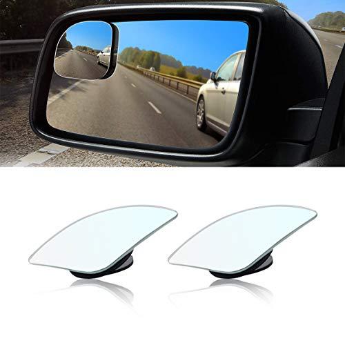 Car Blind Spot Mirror, Fan Shaped HD Glass Frameless Stick on Adjustabe Few...