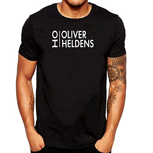 SEVENSIQI Oliver Heldens Logo Hombre Short Sleeve Neck Camiseta/T Shirt Black