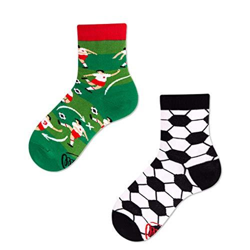 Many Mornings - Verrrückte Socke, Fußball, Kinder Gr. 23-26