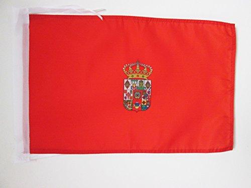 AZ FLAG Bandera de la Provincia DE ÁVILA 45x30cm - BANDERINA ÁVILA ENCastilla Y LEÓN 30 x 45 cm cordeles