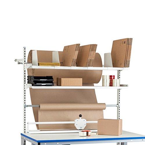 GBP Ergonomics 42-060-0001 ErgoMulti paktafel, opbouw c/c 1775, 2 plankenrails, 2 planken, snij-inrichting, 6 vakken, afrollaas
