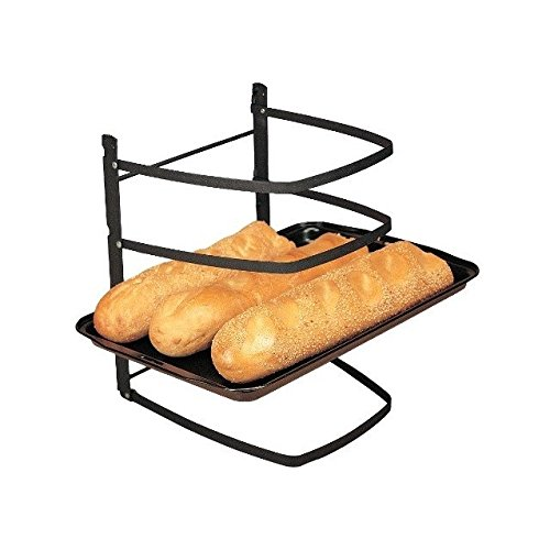 Linden Sweden Metal Baker's Cooling Rack - 4-Tier Baker's Shelf for Baking Sheets, Pizza Stones and Muffin Tins - Great for Crafts and Organization - Folds Flat for Easy Storage
