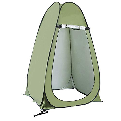 QSCZZ Fully Automatic Quick-Opening Changing Tent, Foldable Pop-Up Toilet Tent, Portable Beach Tent, Waterproof, with Bag, Used for Camping And Fishing,Single
