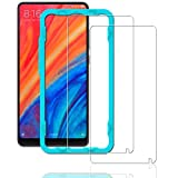 Ibywind Screen Protector for Xiaomi Mi Mix 2S [Pack of 2] 9H Tempered Glass Protector with Back Carbon Fiber Skin Protector,Including Easy Install Kit