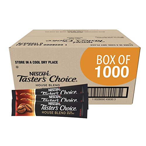Nescafe Instant Coffee Packets, Taster's Choice Light Roast, 1.5 G Singles (Bulk Pack Of 1000)