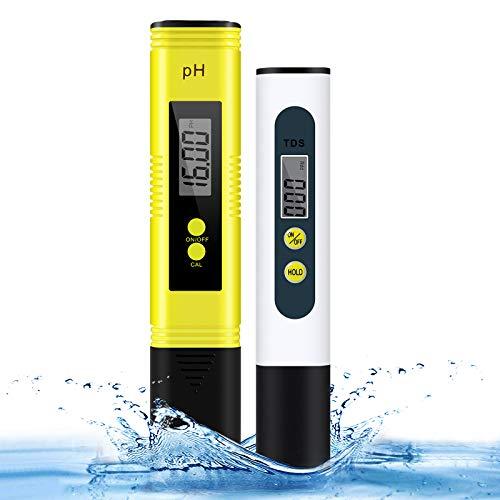 pH Messgerät & TDS Tester Set - Cobiz Wasserqualität Tester mit Hoher Genauigkeit und LCD Schirm - Digital pH TDS Wert Teststift für Trinkwasser/Schwimmbad/Aquarium/Labor