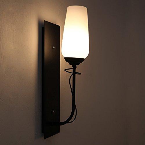 JSJ - Creative mur de lampe de chambre de chambre à coucher simple américain lampe de mur en verre salon personnalisé TV lampe de mur de fond