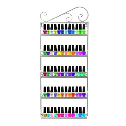 Dazone® 5-tier Metall Herz Nagellack Organizer Aromatherapie und ätherischen Ölen Regal Lippenstiftständer Aufbewahrung (Weiß)