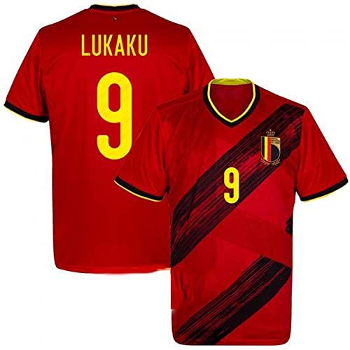 Backboards 2021 European Cup Jerseys,Belgium Camiseta Primera Equipación,No.7 Hombre Camiseta de Manga...