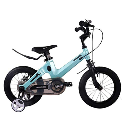JLFSDB Kids Bike Child's Bicycle Girls/Boys Training Bicycle for 2-11 Years,Childrens Scooter Bicycle with Training Wheels & Hand Brakes, 95% Assembled (Color : Blue, Size : 16inch)
