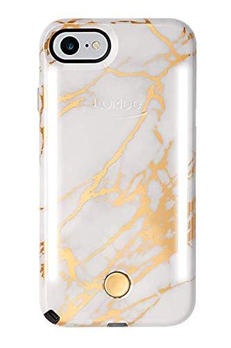 LuMee Duo Handyhülle, Metallic Gold   Front- & Rückseite LED Beleuchtung, Variabler Dimmer, Stoßdämpfung, Bumper, Selfie Phone Case   iPhone 8 / iPhone 7 / iPhone 6s / iPhone 6