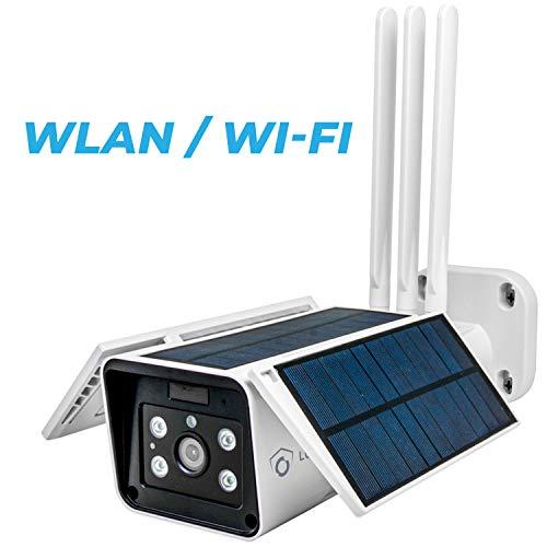 LUVISION WLAN / WiFi & Solar IP Überwachungskamera   autonome kabellose Outdoor-Kamera Solarpanel & WLAN   Full HD Nachtsicht   Gegensprechanlage   Cloud   ALEXA & Google Home kompatibel
