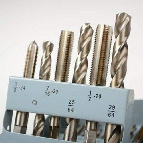 18 Piece Size SAE Steel Tap Drill Bit & and Die Tool Drilling