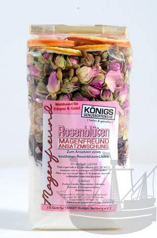Magenfreund Ansatzmischung Rosenblüten, 420g, zum Ansetzen, ohne künstliche Zutaten, Rosenblütenlikör, Rosenlikör, Likör selber machen - Bremer Gewürzhandel