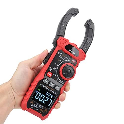 Pinza amperimétrica de CA, pinza amperimétrica digital para el hogar, 6000 cuentas de CA/CC para acondicionadores de aire para conversión de frecuencia, fuentes de alimentación para