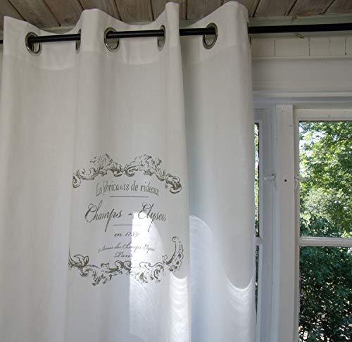 LillaBelle Vorhang Elegance Weiss ÖSEN Gardine 120x240 cm 2 Stück Baumwolle Landhaus Vintage