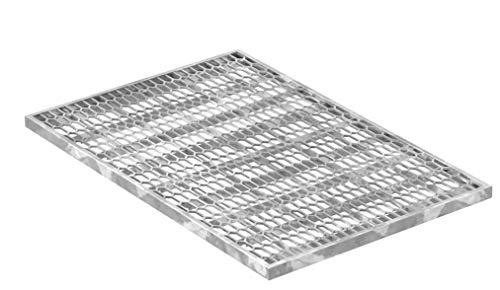 Fenau   Gitterrost/Streckmetall-Rost Maße: 390 x 590 x 20 mm - (Vollbad-Feuerverzinkt) (Passend für Zarge: Fenau 400 x 600 x 23 mm) Industrie-Norm-Rost für Lichtschacht